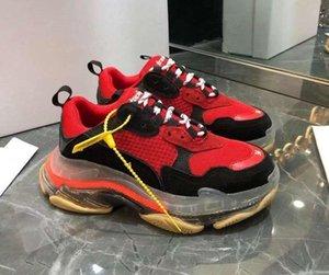 Париж хрустального Bottom Triple-S Досуг обуви люкс папа обувь платформа Тройных кроссовки для мужчин Женщин Vintage Kanye Старого дед Trainern1 c21