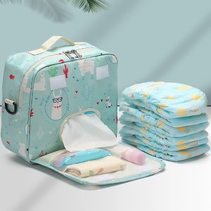 Baby Diaper Bags Maternity Bag for Disposable Reusable Fashion Prints Wet Dry Diaper Bag Double Handle Wetbags