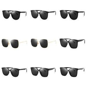 2020 nuova retro annata rotonde polarizzati punk Steampunk occhiali da sole per gli uomini Pelle Laterale Maschile Occhiali da Sole PL1122 T200108 # 492