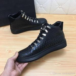 SS18 Yeni Sneaker-Platform Erkek Ayakkabı varış SS1798 Üst Yıldız Perçin Casual Erkek Ayakkabı Lüks Katman Deri EUR38-45 HN03