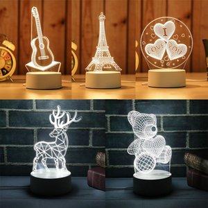 Симпатичные Энергосберегающий номер Декоративное Xmas Party Night Lamp Декор Подвеска 3D LED Light Дети Рождественский подарок игрушка новизны T191022