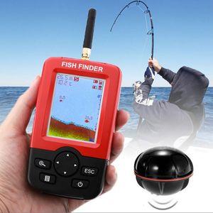 Profundidad inteligente portátil Buscador de los pescados con 100M Wireless sensor del sonar Sonda LCD Sonda de pesca de agua salada Lago Mar