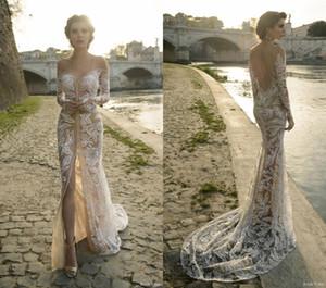 Julie Vino Braut Frühjahr 2019 Roma Kollektion Nixe Jewel Tüll Applikationen Abendkleid Sweep Zug lange Hülse prom Kleider