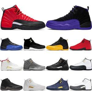 New Arrive Reverse Flu Game 12s мужская баскетбольная обувь 12 Dark Concord Game Royal University Gold темно-серый мужские кроссовки спортивные кроссовки