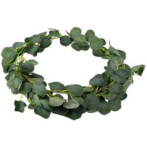 Artificial Green Eucalyptus Vines Rattan artificial Fake Plants Wreath Wall Garden Wedding Festival Fiesta Decoración Accesorios