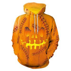 Halloween À Capuche Citrouille Roi Crâne Imprimer Effrayant Sweats Streetwear Drôle Squelette À Capuche Hommes Femmes À Capuche Décontracté Pull