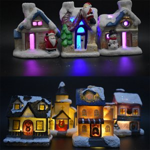 Cute Mini Christmas Decorations Fantasy European Lighted Mini House European and American Style Snow House Christmas Gifts
