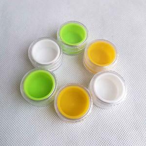 5ml di alta qualità rotonda originale profondo di plastica su misura Cera BHO olio Shatter silicone foderato contenitore della cassa del contenitore del silicone Vasi Cera Strumenti