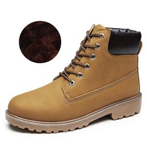 2019 plus velvet Martin boots female couple models plus cotton big shoes men thick warm men and women shoes