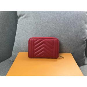 Bolso de la tarjeta del estilo de la jet para mujer Deisgner Monedero pequeño mate de cuero de gran capacidad de largo carpeta Luxry 2020 nuevo estilo de moda bolso