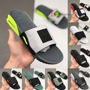 에어 쿠션 (90 개) 슬리퍼 Maxes 패션 쿨 그레이 배 블랙 화이트 오레오 남성 슬라이드 샌들 플랫 와이드 증기 남성 플립 플롭 남자 로퍼