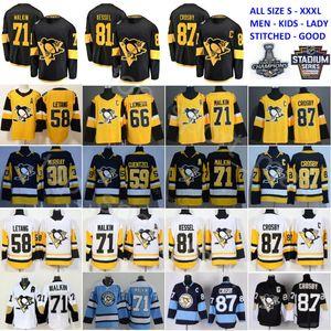 Uomini Bambini Donne Pittsburgh Pinguini Sidney Crosby Jerseys Evgeni Malkin Kris Letang Carl Hagelin Mario Lemieux Patric Hornqvist Jake Guentzel