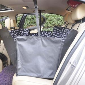 Oxford Tela de coches para mascotas cubiertas del asiento del patrón impermeable Volver Bench Seat Covers estera del animal doméstico Portadores Accesorios de viaje
