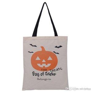 Sac à main de Halloween Portable Festival Toile écologique Grande Capacité Personnalisé De Noël Durable Tote Bag BH0095