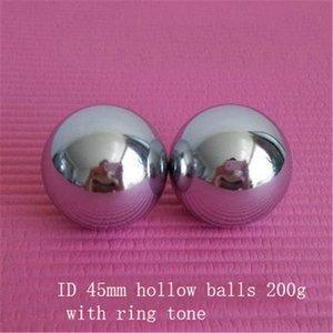 de acero inoxidable de las bolas huecas con Baoding 1pair manos bolas de la aptitud tono de timbre de salud chino terapia de ejercicio