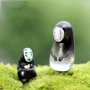 NEW Spirited Away No Face Resin Craft Mini Miniature Garden Decor Ornament Plant Micro Landscape Bonsai DIY Dollhouse Fairy