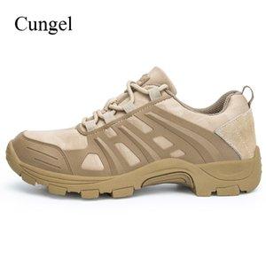 Cungel Мужчины Открытый обуви Горные походы обувь Trekking Walking Скалолазание Army Combat Desert Покрытием