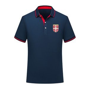 serbien 2020 Nationalmannschaft Sommerbaumwollfußballpolohemd Männer kurze Ärmel Revers Polo Fußball Männer Polohemd Training Jersey Herren Polos