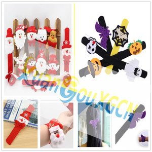 Halloween Easter Decorations Patting Circle Pumpkin bat spider Wristband Bracelets adult kid hand toys Pat Circle party gift