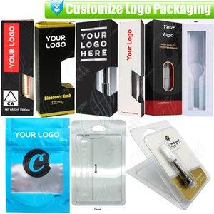 Personalice el empaque para todos los cartuchos de aceite gruesos Vapes OEM ODM Diseño Papel personalizado Caja de regalo Blister Package Bolso e cigarrillos Vaporizadores Pluma