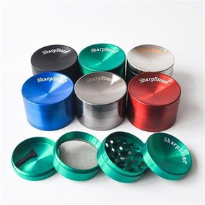 Concave Sharpstone Grinder 4 Layers Zinc Alloy 40mm 50mm 55mm 63mm Diameter Tobacco Chopper Dry Herb Slicer Sharp Stone