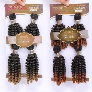 الشعر مخصص ملحقات الشعر التمديد لحمة مزدوجة الجسم موجة فومي ينسج مجعد الاصطناعية 220gram تجديل خياطة الباقة في الشعر