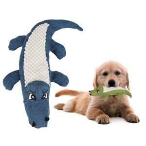 Cartoon Crocodile Pet Bite Chew Toy Corn velvet linen Squeak Toys For Dogs puzzle molar Cat toy Dog Supplies Pet Shop
