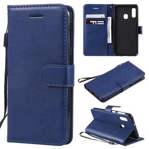 Для Samsung Galaxy A10S / A20S / M30S / M21 / A51 / A71 Дело откидная крышка бумажника Стенд Pure Color Кожа PU мобильный телефон мешки Coque