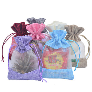 2 Superficie Organza iuta Confezione regalo caramella di favore Party Bag regalo dei monili Sack iuta coulisse Pouch Candy Bag LX2034