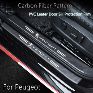 Car Door Sill Threshold Tail Trunk Guard Sticker For Peugeot Manager 406 3008 308 508 607 505 407 Grand Raid Carbon Fiber Pattern Decal