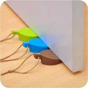 Силиконовые двери предотвращающим Pinch Безопасность Ворота Детская безопасность карты Leaf Shaped мультфильм дверь Стоп LJJO7970