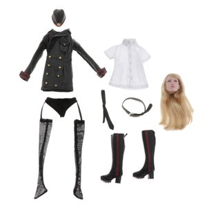 "1 6 Scale Women\'s Military Uniform Set with Head Sculpture for 12\"" Action Figures"