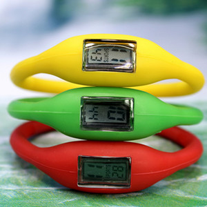 Multi-color negative ion electronic watch silica gel waterproof boys and girls student promotional gift table