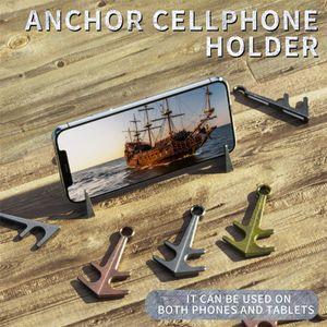 NEW Anchor Support Universal Table Phone Holder Aluminum Alloy Material Desktop Stand Support Magnet Anchor Cellphone Holder Mount Bracket