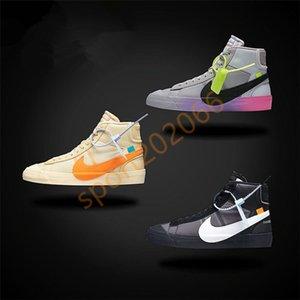 Hot Off 2019 nike Blazer Mid Queen Casual mid-high women sneakers Orange Black Rainbow Grim Reepers Running Skateboard trainer men sport shoes