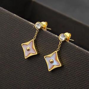 boucles d'oreilles simples boucles d'oreille de luxe design femmes bijoux mode diamant fleur de bijoux noble de concepteur earings
