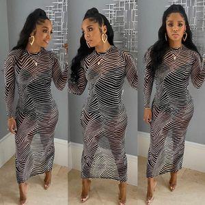 K9589 2020 New sexy zebra print dress hot style American stripe boate dress manufacturers wholesale