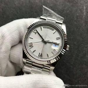 2018 Sweep New Rome mens montre automatique mouvement verre saphir Stainess bracelet original Mécanique montre mens montre-bracelet 118239 bateau libre
