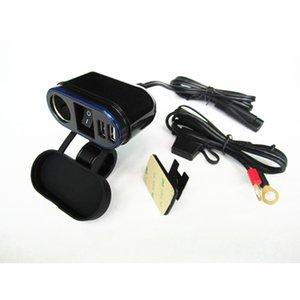 Für Lenker Dual USB Ladegerät-Adapter mit DC 12V-Steckdosen 22-25mm Motorrad und Ein-Aus-Schalter Zigarettenanzünder