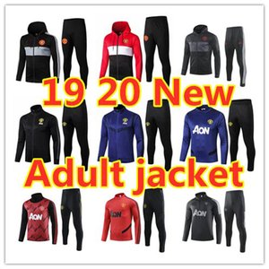 New Rashford revestimento do hoodie treino Man United futebol survêtement 19 20 MAGURIE conjunto jopping treino de futebol Pogba JAMES terno CHANDAL