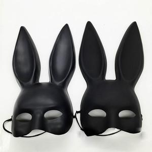 الآذان السوداء الأقسام المرأة مثير فتاة الأرنب أرنب لطيف قناع آذان طويلة قناع تأثيري هالوين تنكر حزب زي