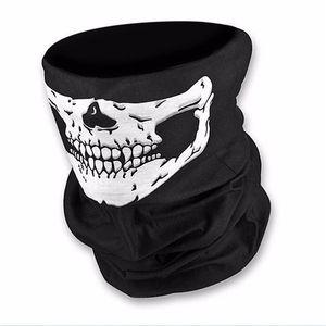 Horreur Crâne Halloween cosplay écharpe vélo ski Crâne demi-masque visage fantôme écharpe Bandana cou Parti chaud Bandeau magique Turban VT0558