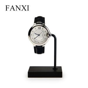FANXI جديد أسود معدن ACYLIC العرض ووتش حامل مجوهرات عرض موقف ووتش المنظم لمعرض التعبئة والتغليف والمجوهرات