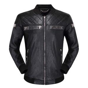 2020 أزياء الرجال سترة جلدية فو الهيب هوب سترة ذات جودة عالية عارضة أزياء الرجال الفاخرة سترة دراجة نارية الفاخرة