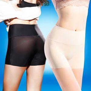 LANGSHA 3PCS LOT Women High Waist Safety Short Pants Women Briefs Seamless Boyshorts Silk Lady Boyshort Panties Women Boxer