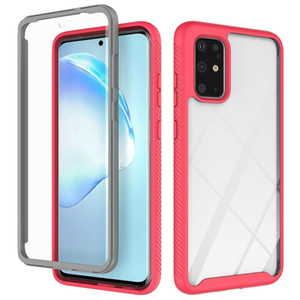 TPU+Acrylic Frame Bumper Transparent Clear Case for Samsung Galaxy S20 Ultra S10 Plus S10e A51 A71 Shockproof Back Hard Cover