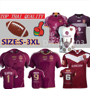 19 20 Ligue nationale de rugby du Queensland 2019 QLD Maroons Malou Maillot de rugby 2020 QLD MAROONS STATE OF ORIGIN Maillot de rugby taille S - 3XL