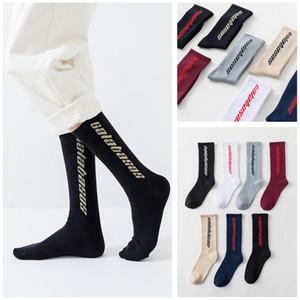 Хип-хоп Новые мужчины женщины Calabasas Носки Мужчины Носки Happy Meias Harajuku Calcetines Streetwear случайные носки экипажа