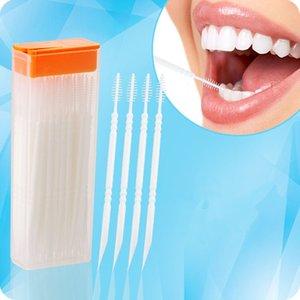 120pcs! Doppel Kunststoff Spazzolino interdentale Zahnschminkpinsel für dauerhafte Stop-Schleifen Dental Nachtwächter-Schutz Zahnstocher