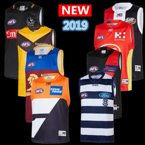 2019 2020 AFL Trikot geelong Katzen Essendon Bombers Adelaide Crows Collingwood West Coast Eagles Singulett GUERNSEY Rugby Trikots Liga